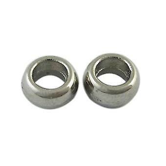 Packet 25 x Antique Silver Tibetan 3 x 6mm Donut Spacer Beads HA17140