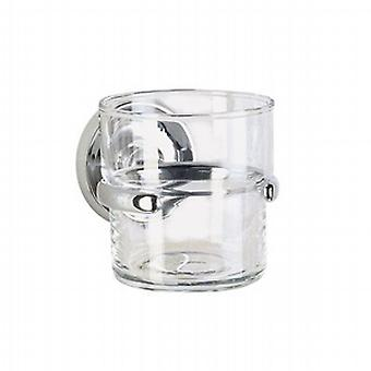 Villa Chrome Holder With Glass Tumbler K243
