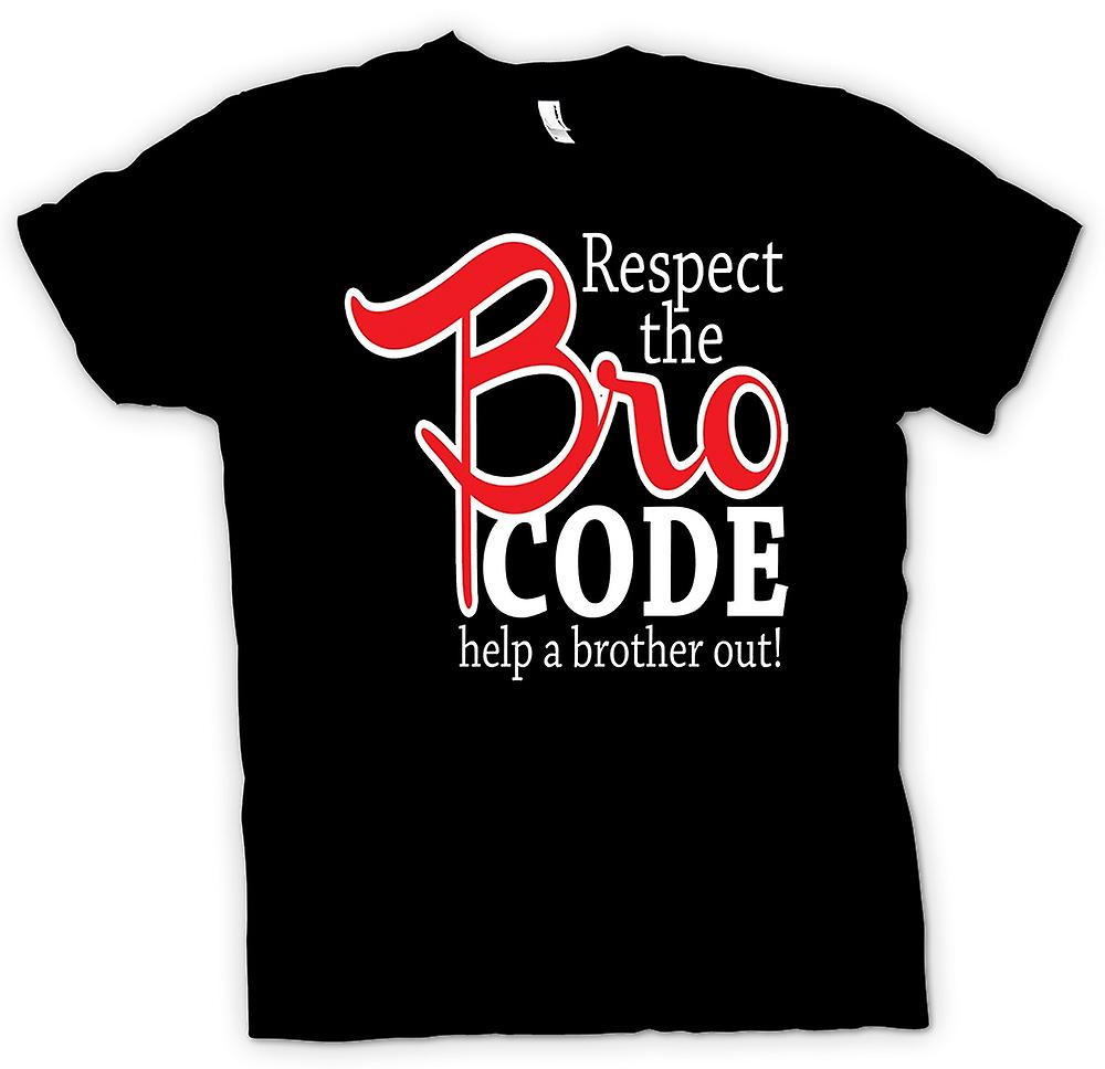 Heren T-shirt-Respect de Bro-Code