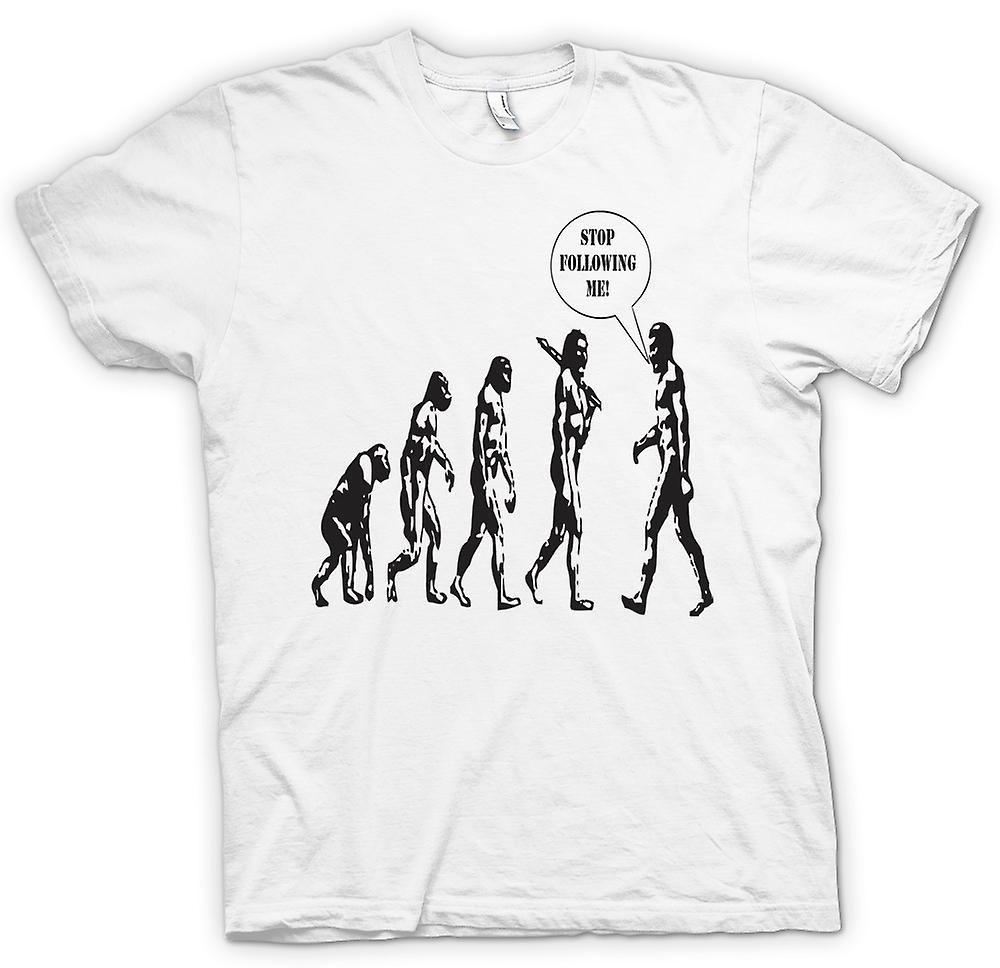 Heren T-shirt - Evolution - Stop na mij