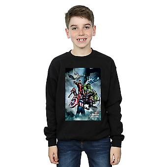 Marvel Boys Avengers Team Montage Sweatshirt