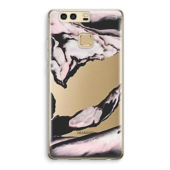 Huawei P9 Transparent Case (Soft) - Pink stream
