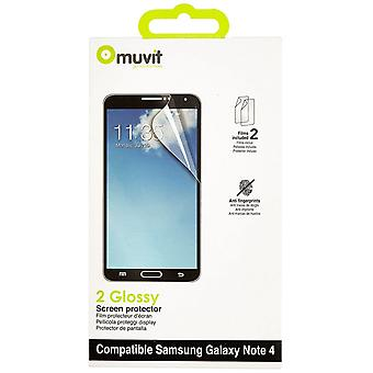 Muvit Samsung Galaxy touch 4 screen protector 2 x blanke AF