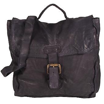 Pontegio - Schultertasche Beuteltasche Satchel Bag Leder Used-Look MittelFormat