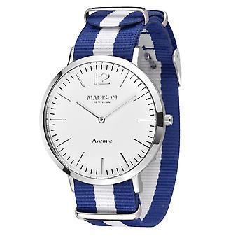 MADISON NEW YORK Unisex Watch wristwatch Avenue textile G4741F1