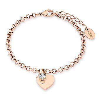 s.Oliver jewel ladies bracelet stainless steel Rosé Herz 2020329