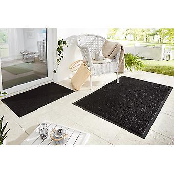 Captura la suciedad alfombras mat cepillo jardín negro