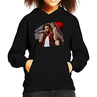 Liam Payne Of One Direction Murrayfield Stadium 2014 Kid's Hooded Sweatshirt