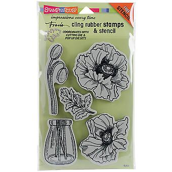 Stampendous Cling Stamp W/ Template 9