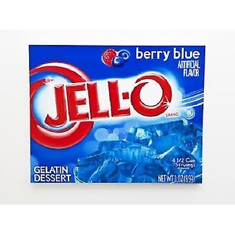 Mezcla de postre gelatina Berry gelatina azul