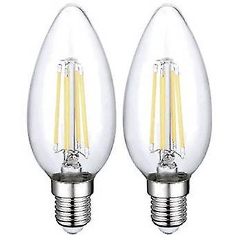 Sygonix LED E14 4 W = 40 W Warm white (Ø x L) 35 mm x 98 mm EEC: A++ 2 pc(s)