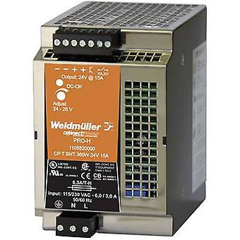 Rail mounted PSU (DIN) Weidmüller CP T SNT 360W 24V 15A 28 Vdc 15 A 360 W 1 x