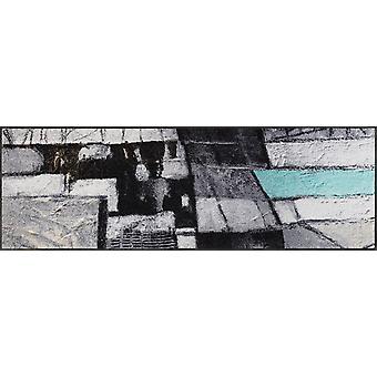 lavado + secado mat vive alfombra lavable de 60 x 180 cm