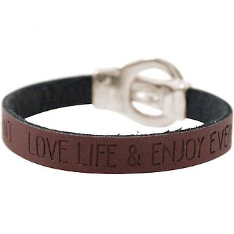 -Bracelet - WISHES - Brown - dark - belt - buckle - magnetic closure