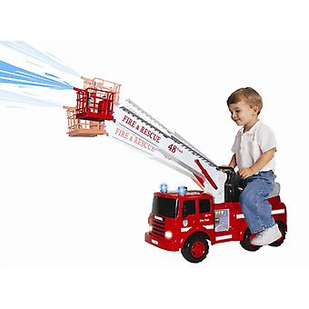 Kick vehicle-fire engine (m) battery-powered fire ladder