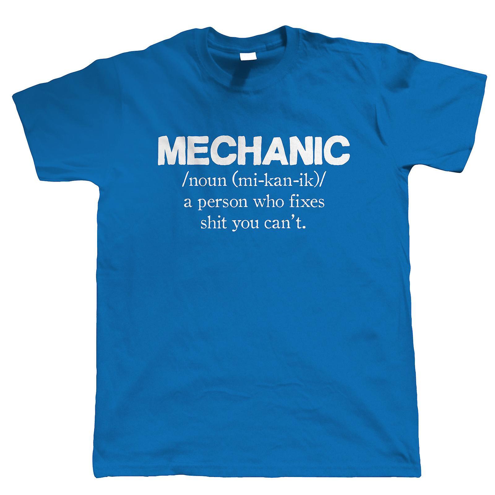 Mechanic Mens Funny T Shirt - Gift for Dad Classic Car Garage