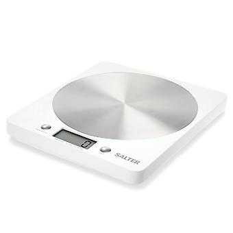 Salter 1036 WHSSDR Stainless Steel Ultra Slim Disc Electronic Kitchen Scale