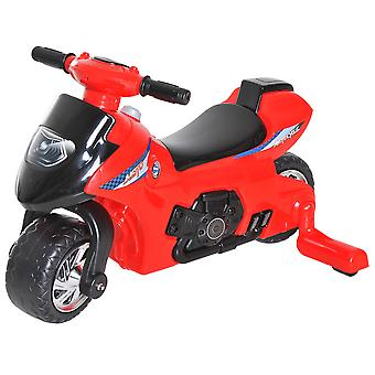HOMCOM Kids Ride On Motorcycle Dirt Bike Toy Boy Girl Children's Motorbike w/ Training Wheels Red Music Horn 18-36 Months