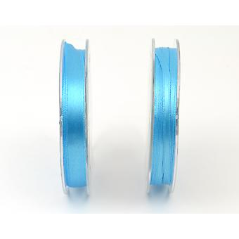 3mm Turquoise Polyester Satin Craft Ribbon - 10m | Ribbons & Bows for Crafts