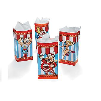 12 Circus & Big Top Print Paper Party Bags | Kids Party Loot Bags