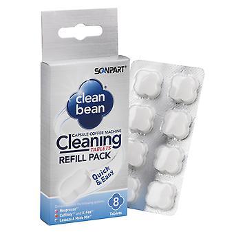 Scannen Sie Teil sauber Bean Reinigung Registerkarten A8