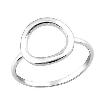 Circle - 925 Sterling Silver Plain Rings - W36765x