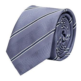Schlips Krawatte Krawatten Binder 6cm grau weiß dunkelgrau Streifen Fabio Farini