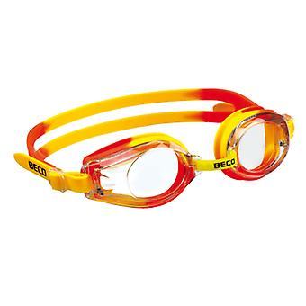 Beco Kids Rimini Swim Goggles - Clear Lens - Yellow/Orange Frame