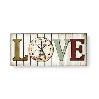في إطار تصميم الجدار على مدار الساعة-الحب