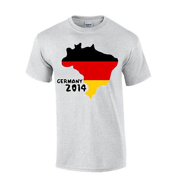 Tyskland 2014 land flagga T-shirt (grå)