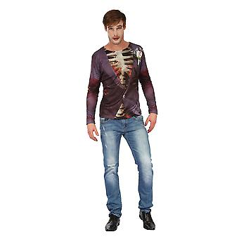 Zombie Bridegroom Man 3D Print Shirt, Halloween