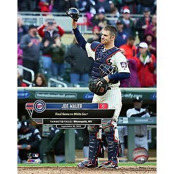 Joe Mauer Final Game of 2018 at Target Field -September 30 2018 with Overlay Photo Print