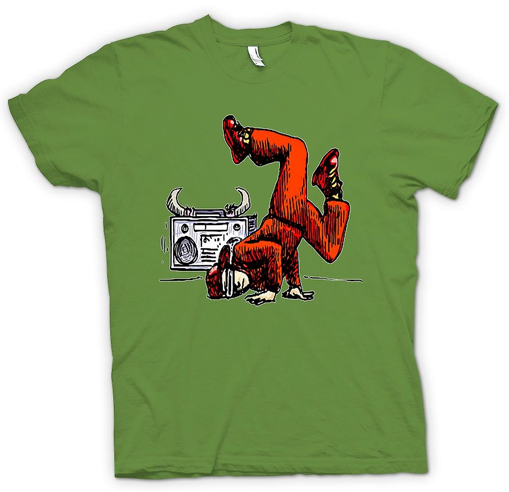 Mens t-skjorte - Breakdancing - Hip Hop - farge