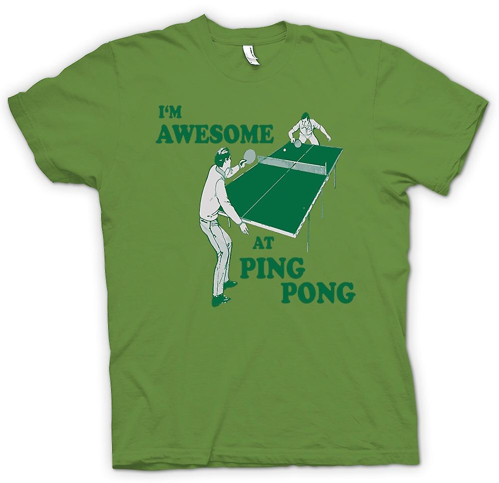 Mens T-shirt - I'm Awesome At Ping Pong - Quote