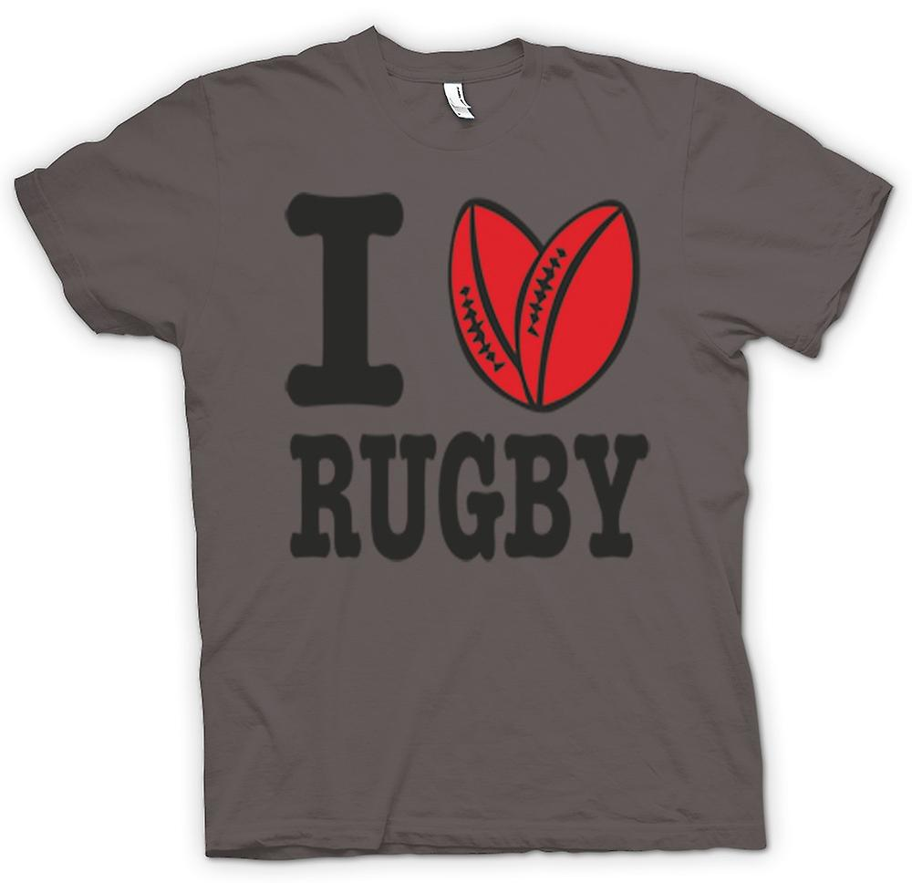 T-shirt - I Love Rugby