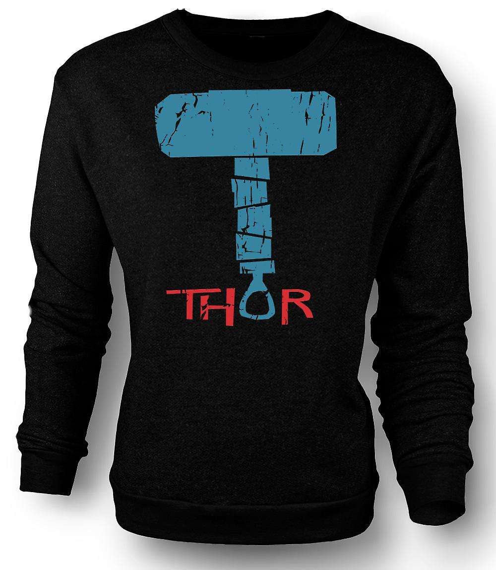 Mens Sweatshirt Hammer Of Thor