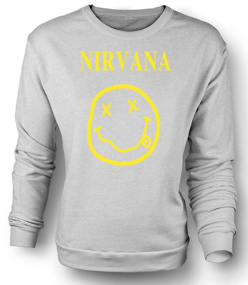 Mens-Sweatshirt-Nirvana-Smiley-Gesicht