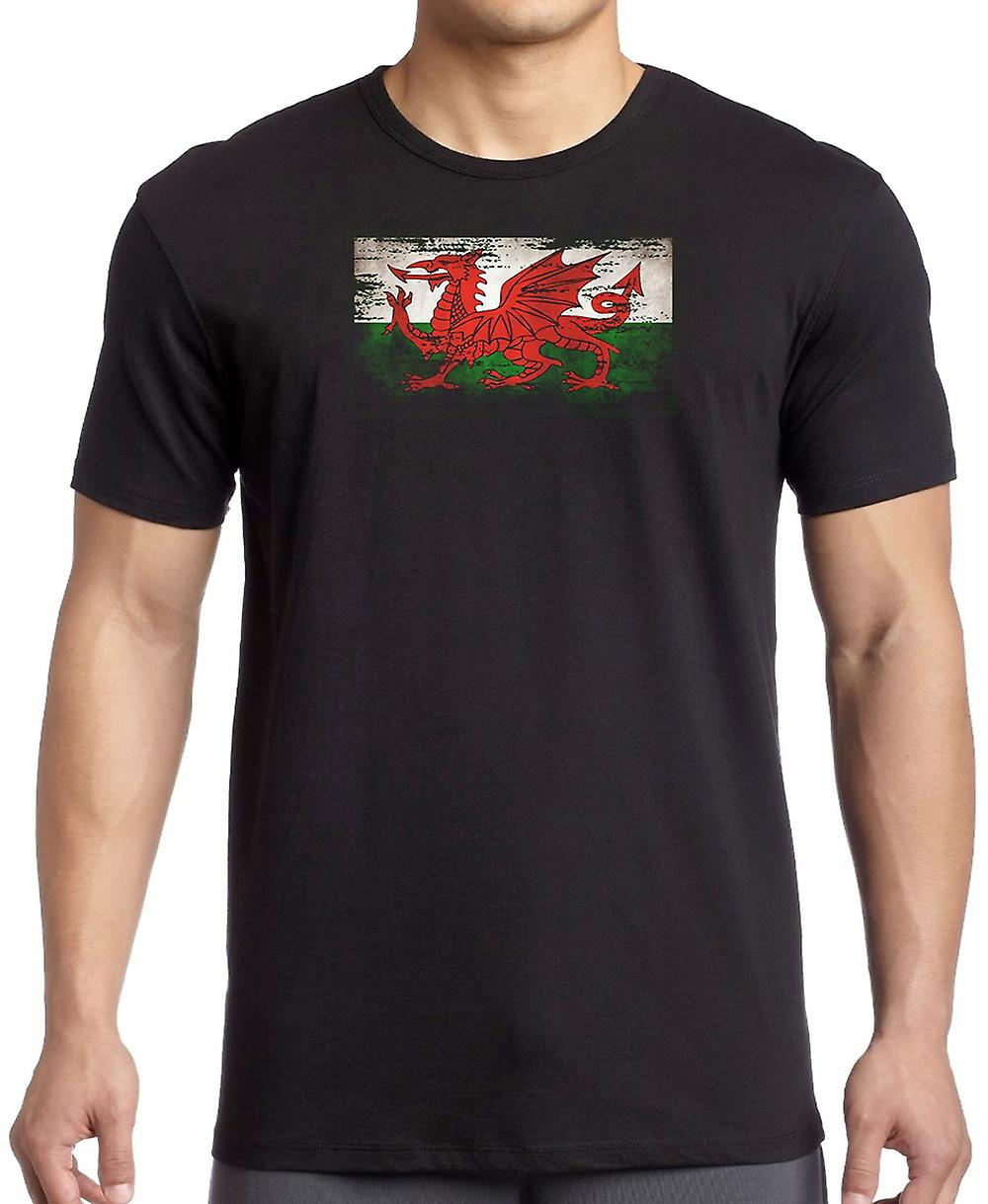 Wales Welsh Grunge Flag T Shirt