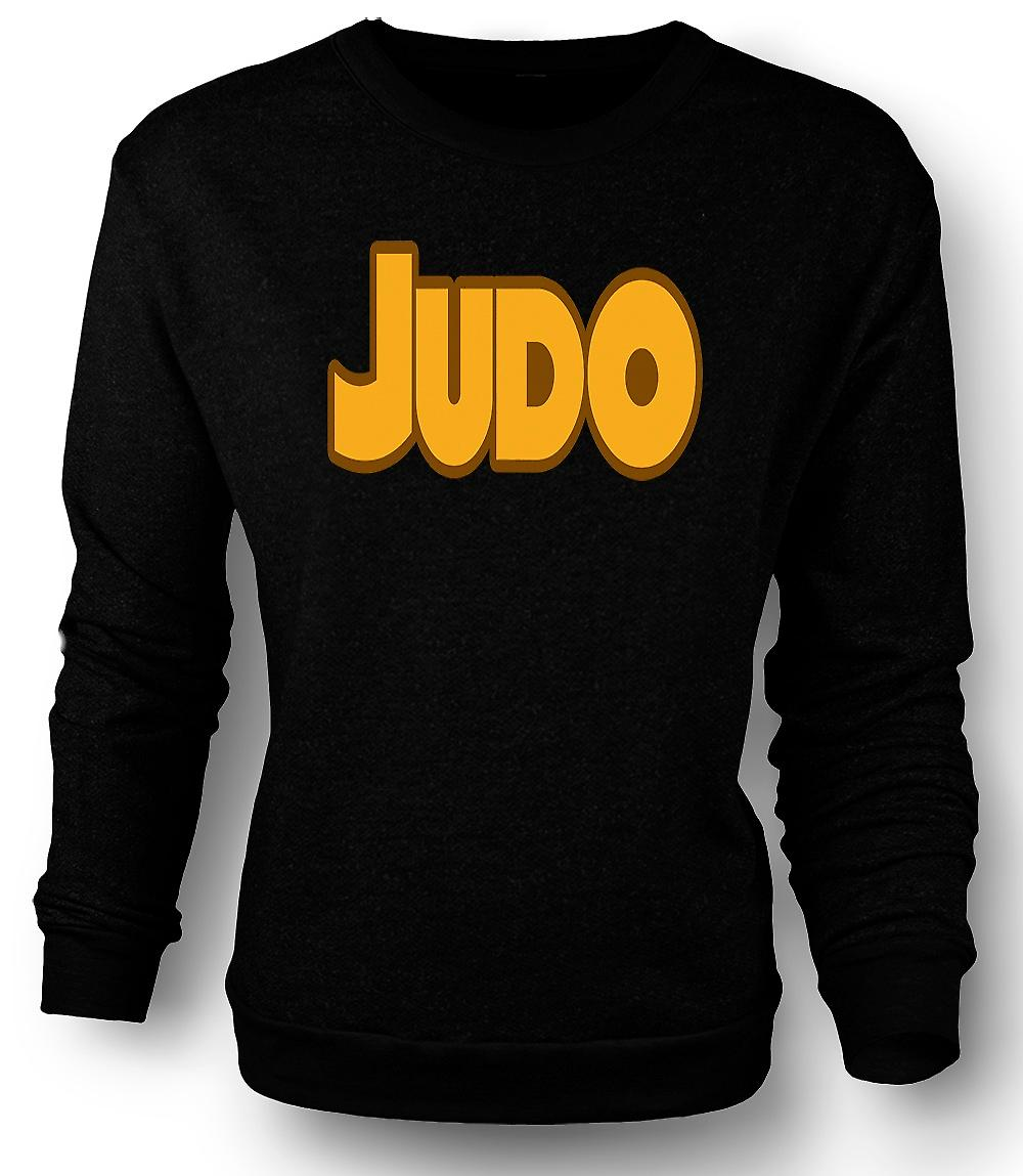 Slogan de Judo - arts martiaux - Mens Sweatshirt