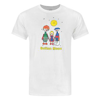 Button Moon Characters Men's T-Shirt White