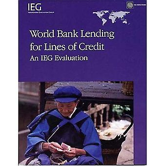World Bank Lending for Lines of Credit: An IEG Evaluation