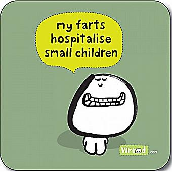 My Farts Hospitalise Small Children funny drinks mat / coaster   (cw)
