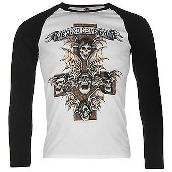 Official Mens Avenged Sevenfold Raglan T Shirt Cotton Print 3/4 Sleeve Crew Tee