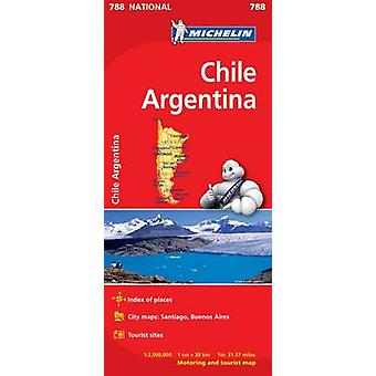 Chile Argentina National Map - 9782067185654 Book