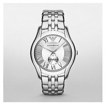 Emporio Armani Ar1788 Mens New Valente Silver Steel Watch