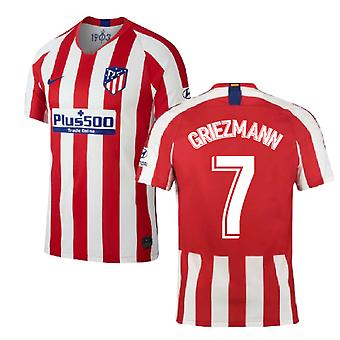 2019-2020 Atletico Madrid Home Nike Football Shirt (GRIEZMANN 7)