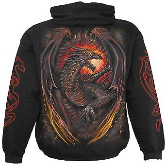 Spiral Direct Gothic DRAGON FURNACE - Hoody Black|Dragon|Wings|Flames