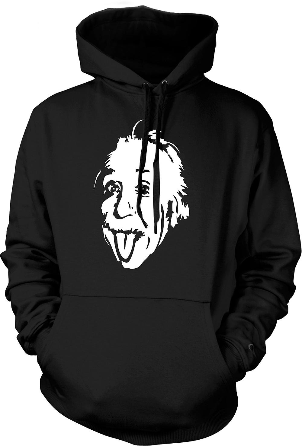 Mens Hoodie - Albert Einstein Tongue Out - Funny