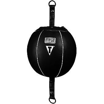 Title Boxing Quick Leather Double End Bag - Black