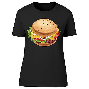 Fast Food Burger Icon Tee Women's -Image by Shutterstock